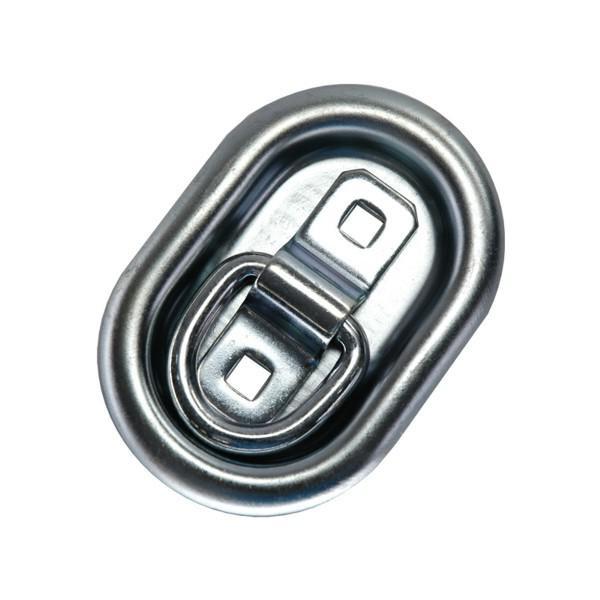 Zurrpunkt / Zurröse oval, doppelseitig versenkend, Zugkraft 350 daN