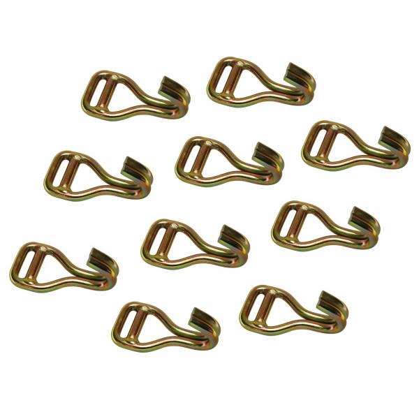 Spitzhakenschnalle für 50 mm Gurtband, LC 2500 daN, Bruchkraft 5000 daN im 10er Set