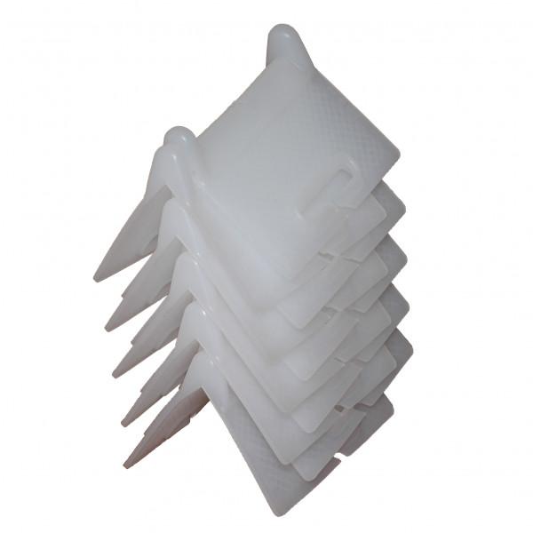 Kantenschutzwinkel, weiß, 10er Set, einfache Ausführung